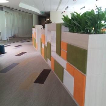 Pojemniki na rośliny w biurze